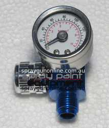 Compressed air regulator for air spray guns