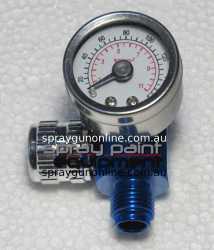 Compressed air regulator for air spray guns